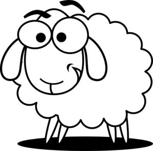 clip art free download Sheep animal free black. Bull clipart baby bobcat