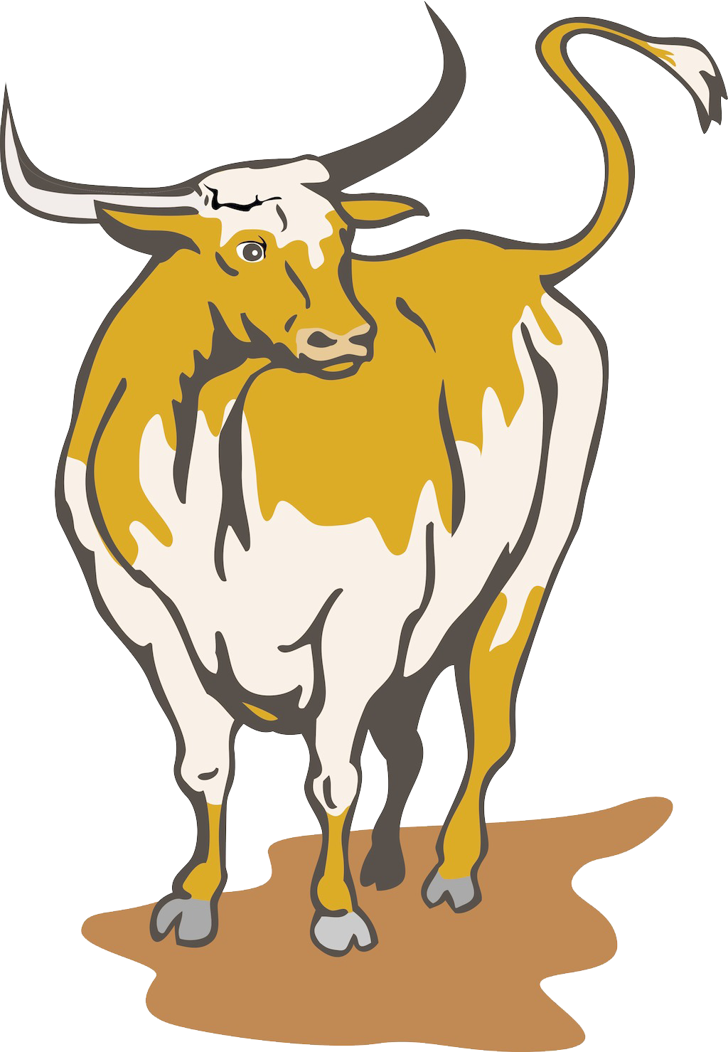 clipart free stock Longhorn clipart longhorn bull. Texas english royalty free.