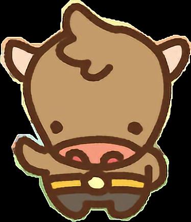 svg black and white stock Bull clipart minotaur. Clawbert cute kawaii cartoon.
