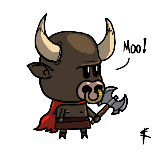 svg transparent stock Bull clipart minotaur. Cute by tastygraph on