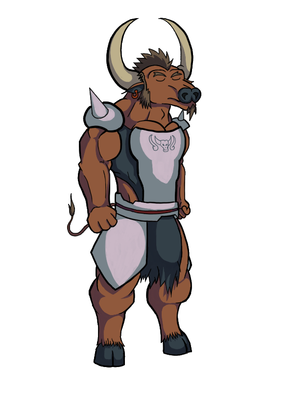 clip art royalty free download Thaben the by inexsus. Bull clipart minotaur