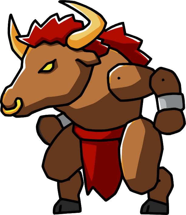 clip free Scribblenauts wiki fandom powered. Bull clipart minotaur.