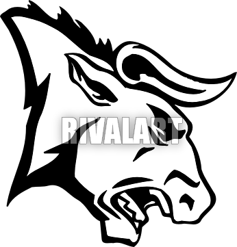 png freeuse download Bull head clipart. Angry pro panda free