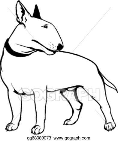 graphic free Vector art drawing gg. Bull terrier clipart