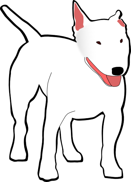 vector transparent stock White Bull Terrier Clip Art at Clker