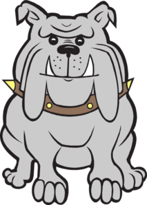 freeuse Happy gray clip art. Bulldog clipart