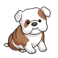 free stock Bulldog clipart. Super cute website digital