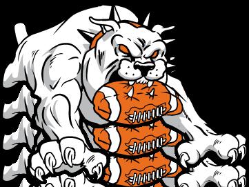 vector black and white library Bulldog clipart angry. Football mascot dromgfl top