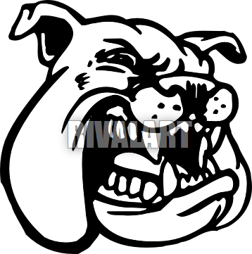transparent library Bulldog Clipart Black And White
