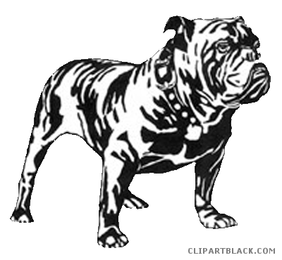 royalty free download Bulldog clipart black and white. Clipartblack com animal free