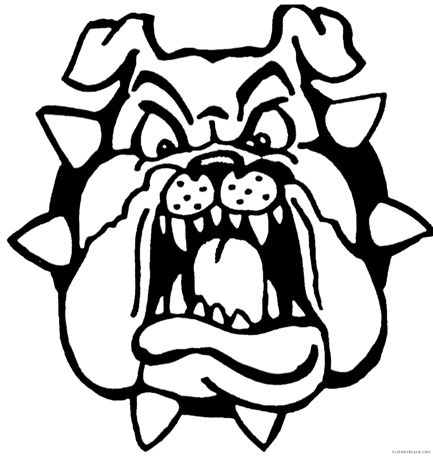picture library library Vector bulldog face. Page of clipartblack com