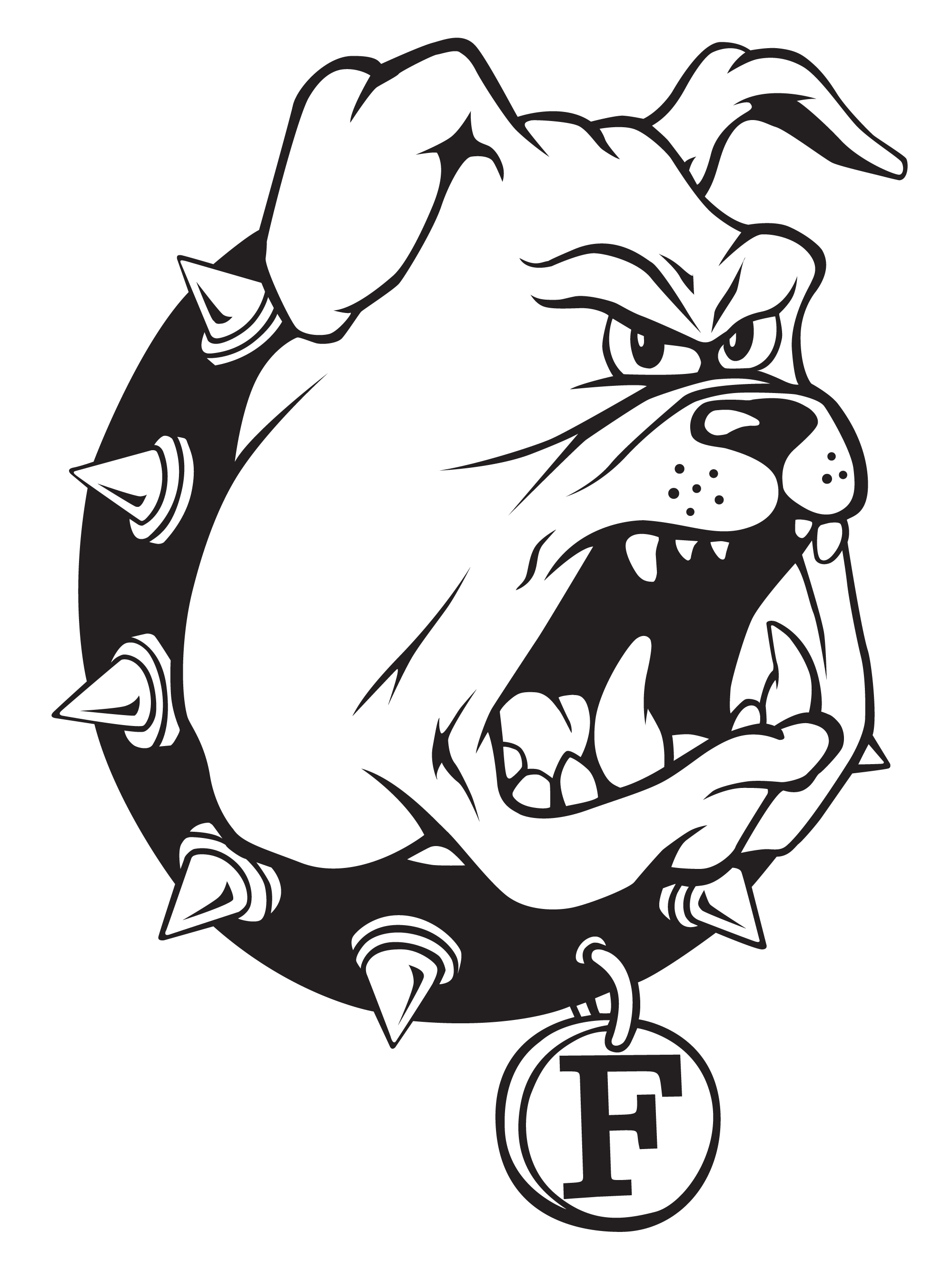 royalty free Logos ferris state university. Vector bulldog black and white