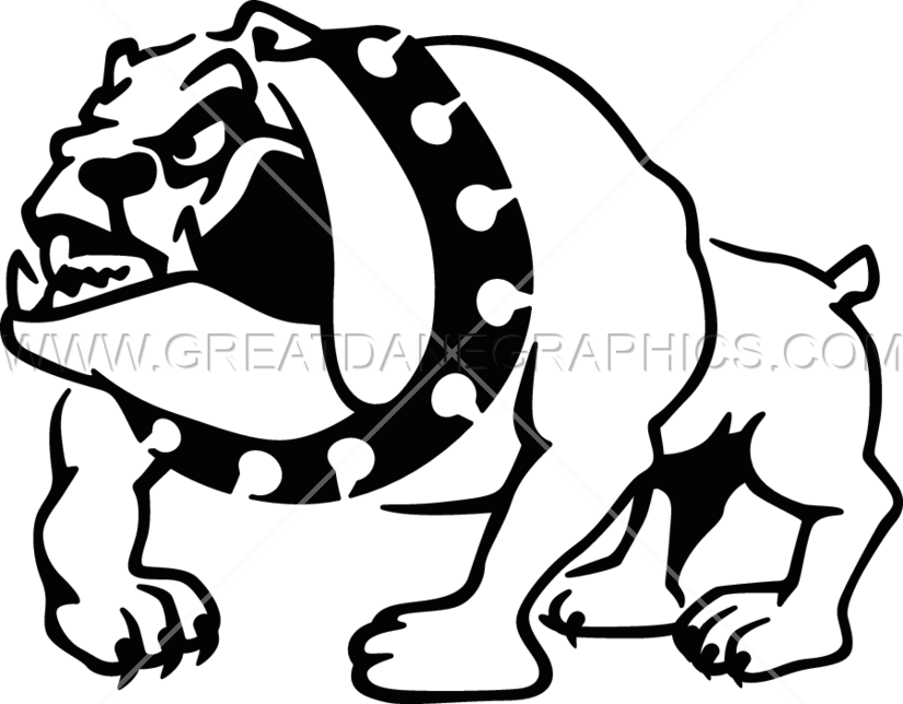 clip art black and white library Bulldog clipart full body. Production ready artwork for