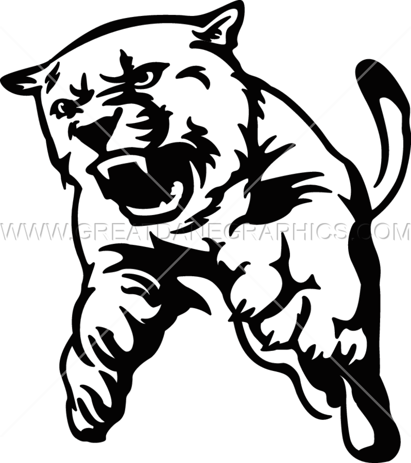 image stock Cougar production ready artwork. Bulldog clipart full body