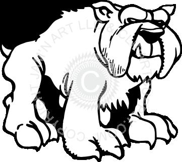 vector library . Bulldog clipart full body.