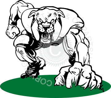 vector royalty free stock Football . Bulldog clipart mascot.