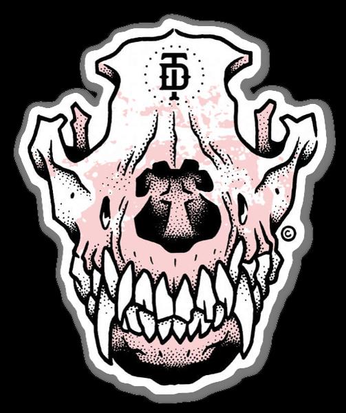 banner black and white library Bulldog clipart skull. Doberman dog sticker .