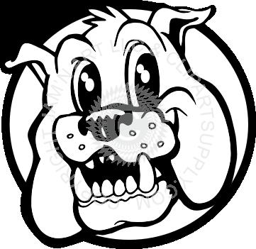 image royalty free stock Happy Bulldog head in circle