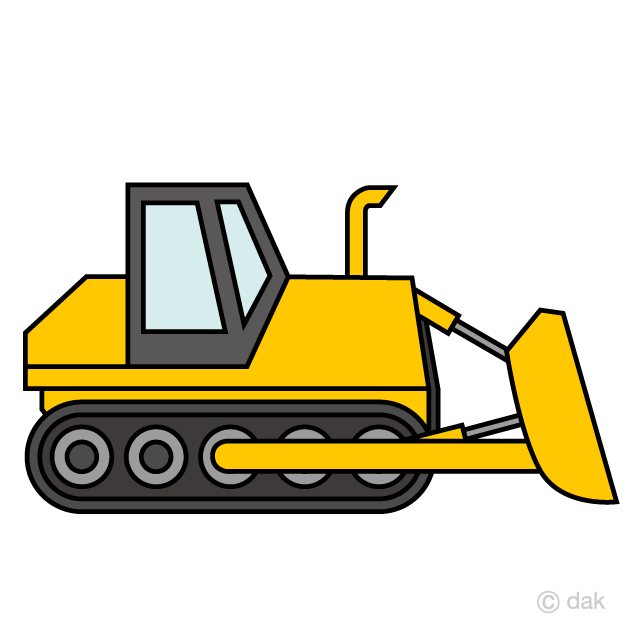 transparent Simple free picture illustoon. Bulldozer clipart.