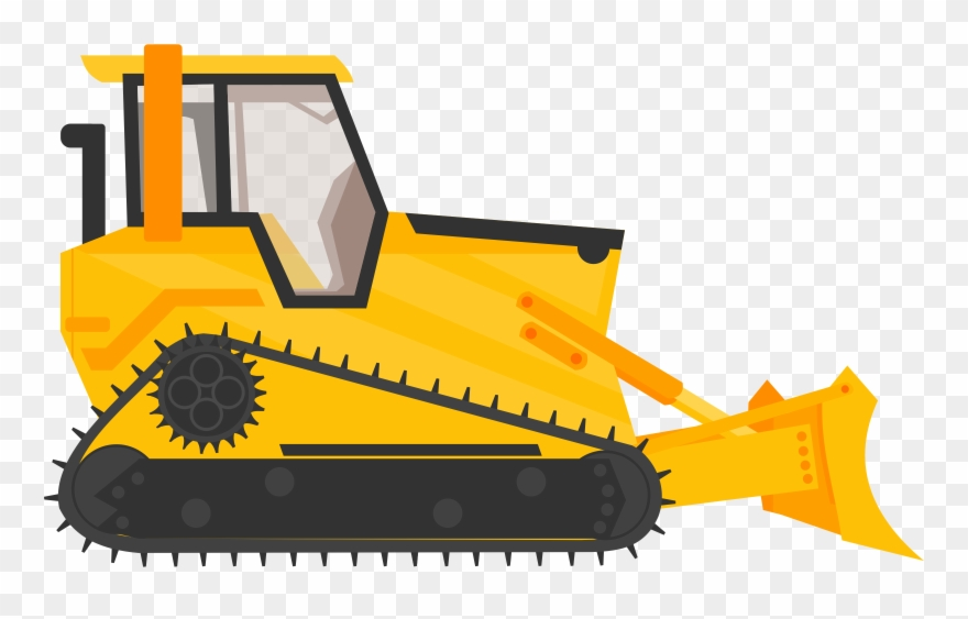clip library stock Bulldozer clipart. Excavator heavy machinery construction.