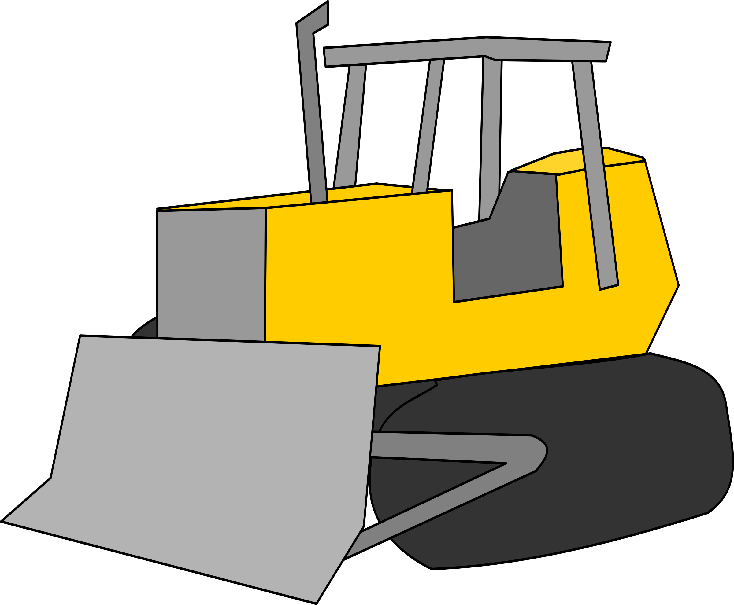jpg transparent download Just big image png. Bulldozer clipart.