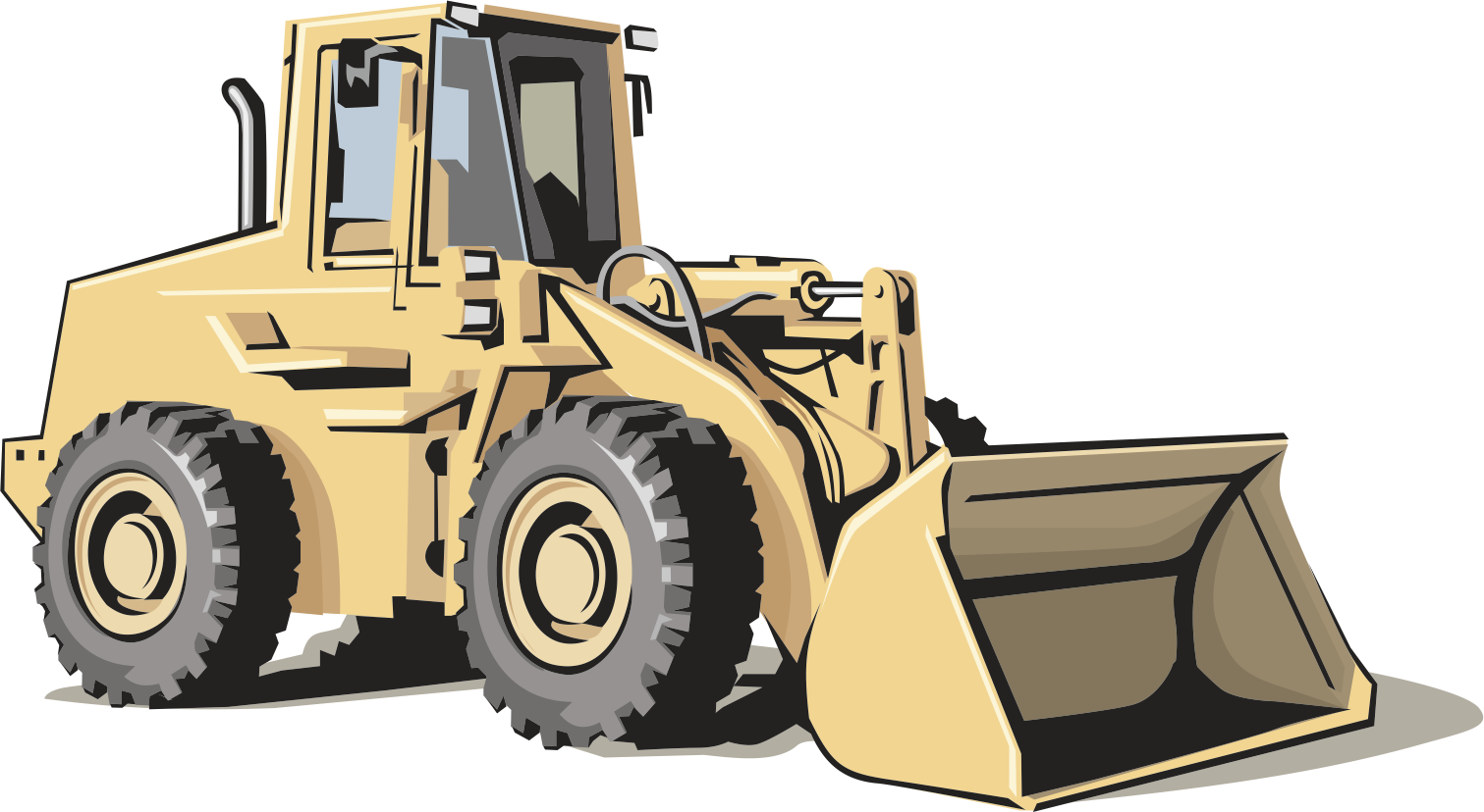 clip black and white download Bulldozer clipart. Heavy equipment architectural engineering.