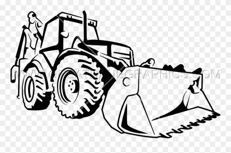 graphic black and white download Svg black and white. Bulldozer clipart draw