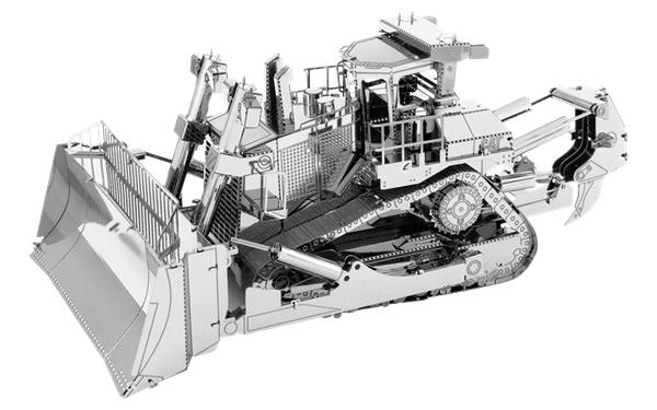 svg transparent Bulldozer clipart draw. Metal earth diy d