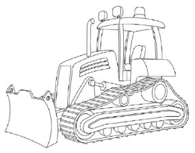 jpg black and white Transparent free for . Bulldozer clipart draw