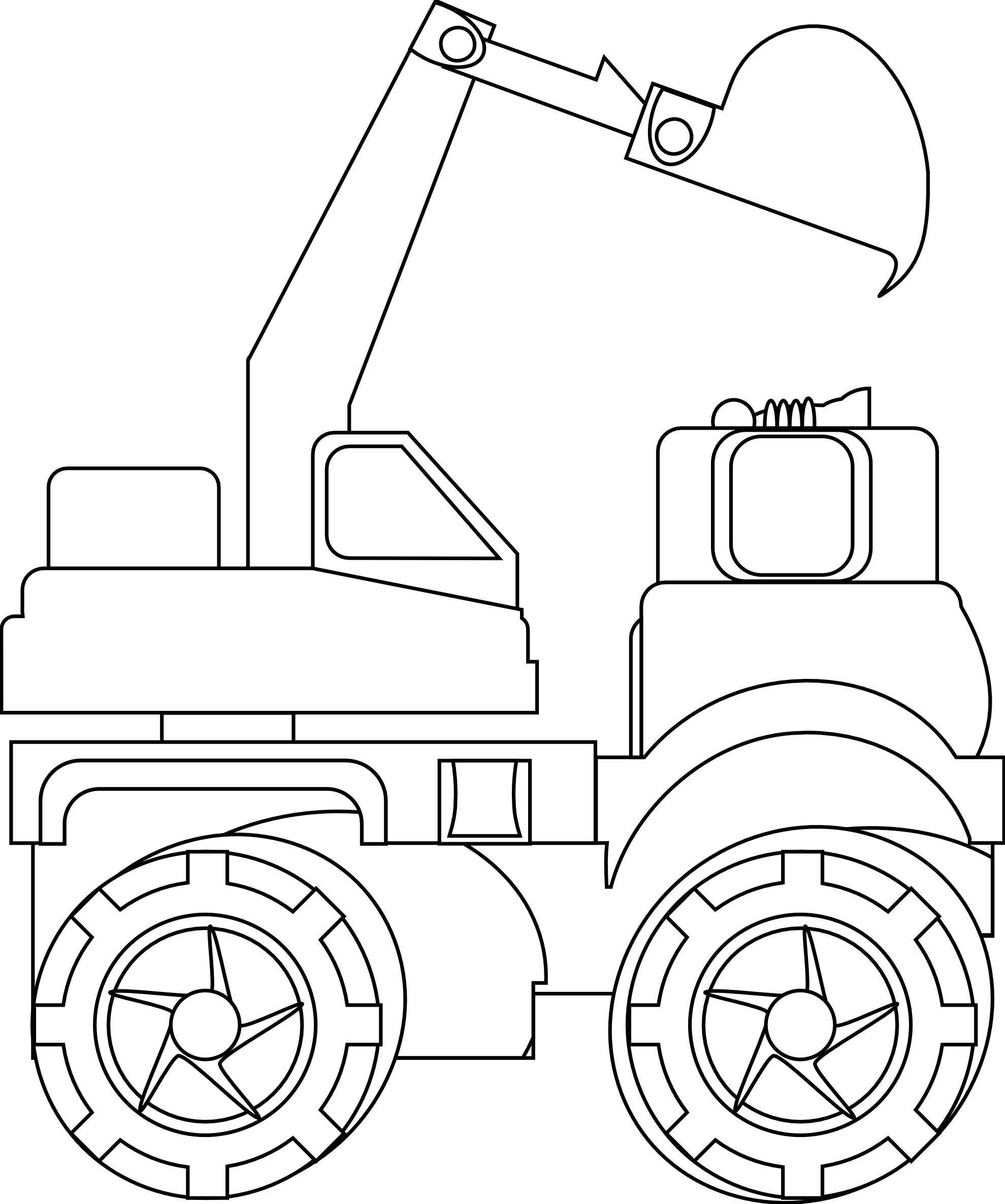 png transparent library Bulldozer clipart draw. Car drawing backhoe loader