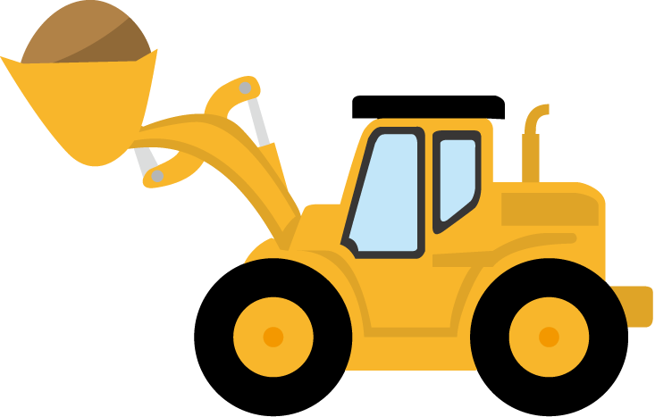 vector royalty free Bulldozer clipart excavator. Silhouette clip art at