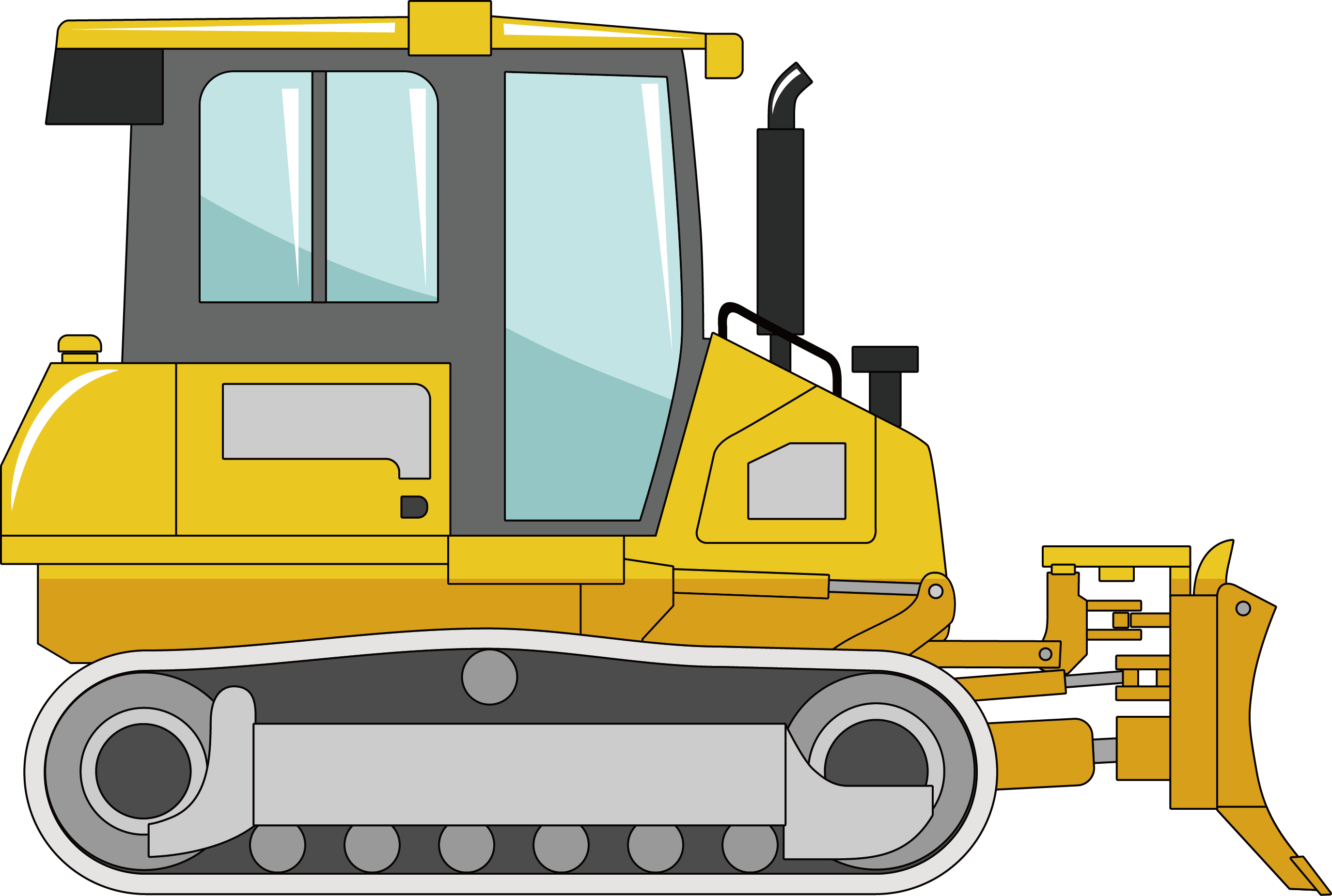clip transparent Bulldozer clipart excavator. Heavy equipment machine small
