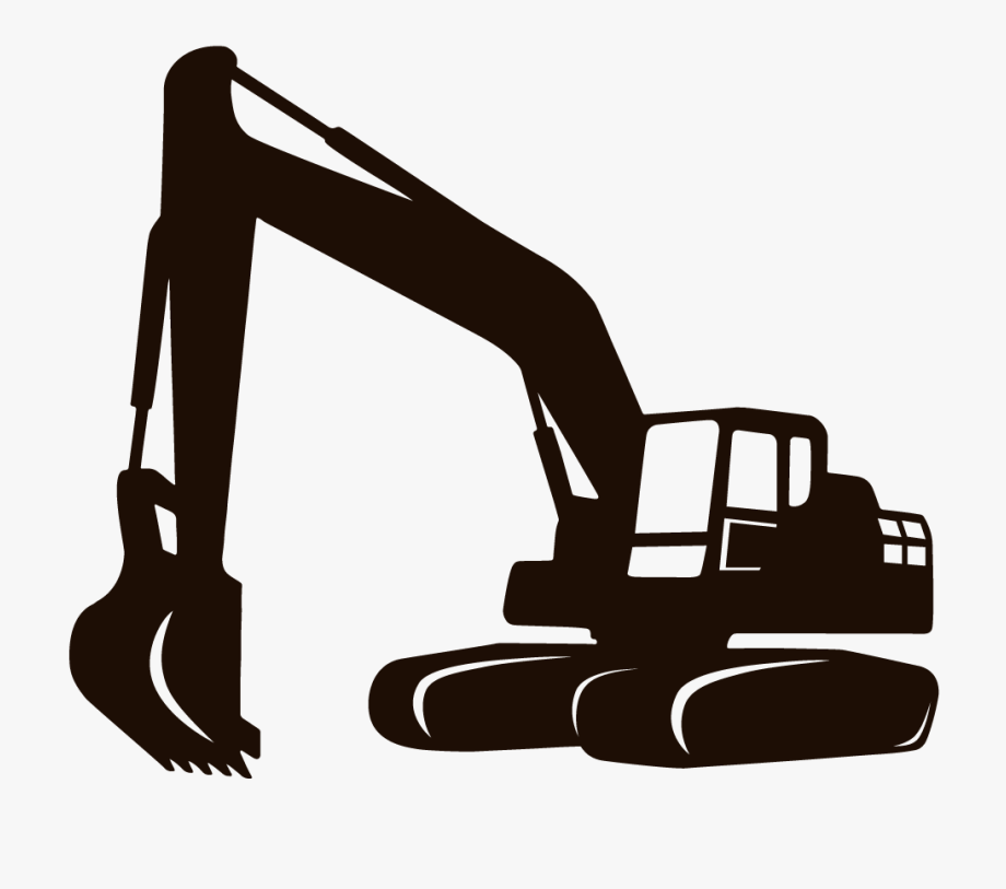transparent Bulldozer clipart excavator. Backhoe engineer equipment construction