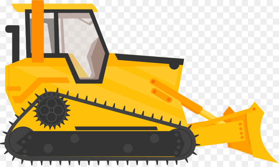 picture stock Yellow background . Bulldozer clipart excavator