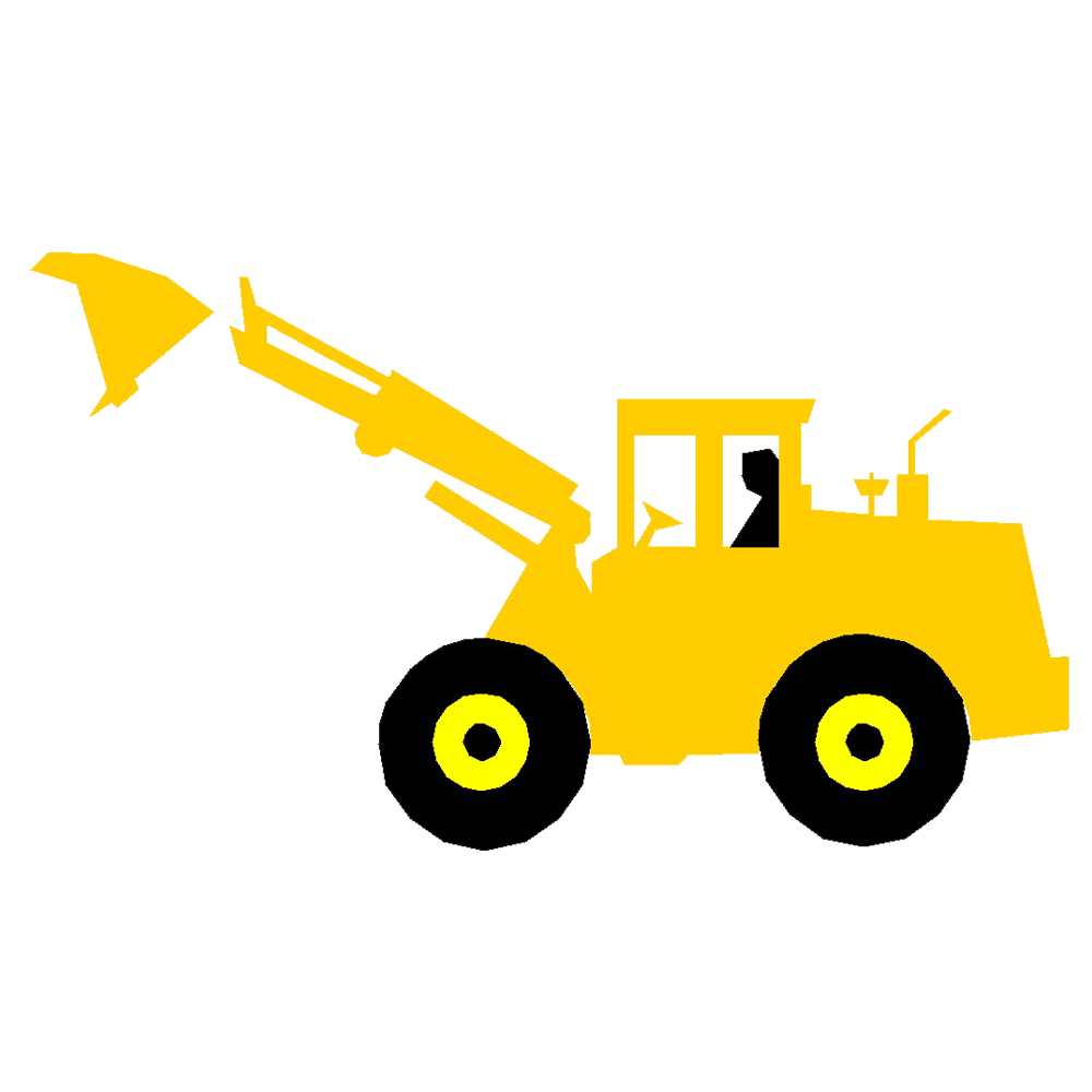 jpg royalty free download Banksman cartoon clip art. Bulldozer clipart excavator