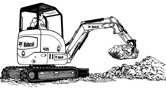 clipart royalty free Civil clipart equipment bobcat. Bulldozer skid steer .