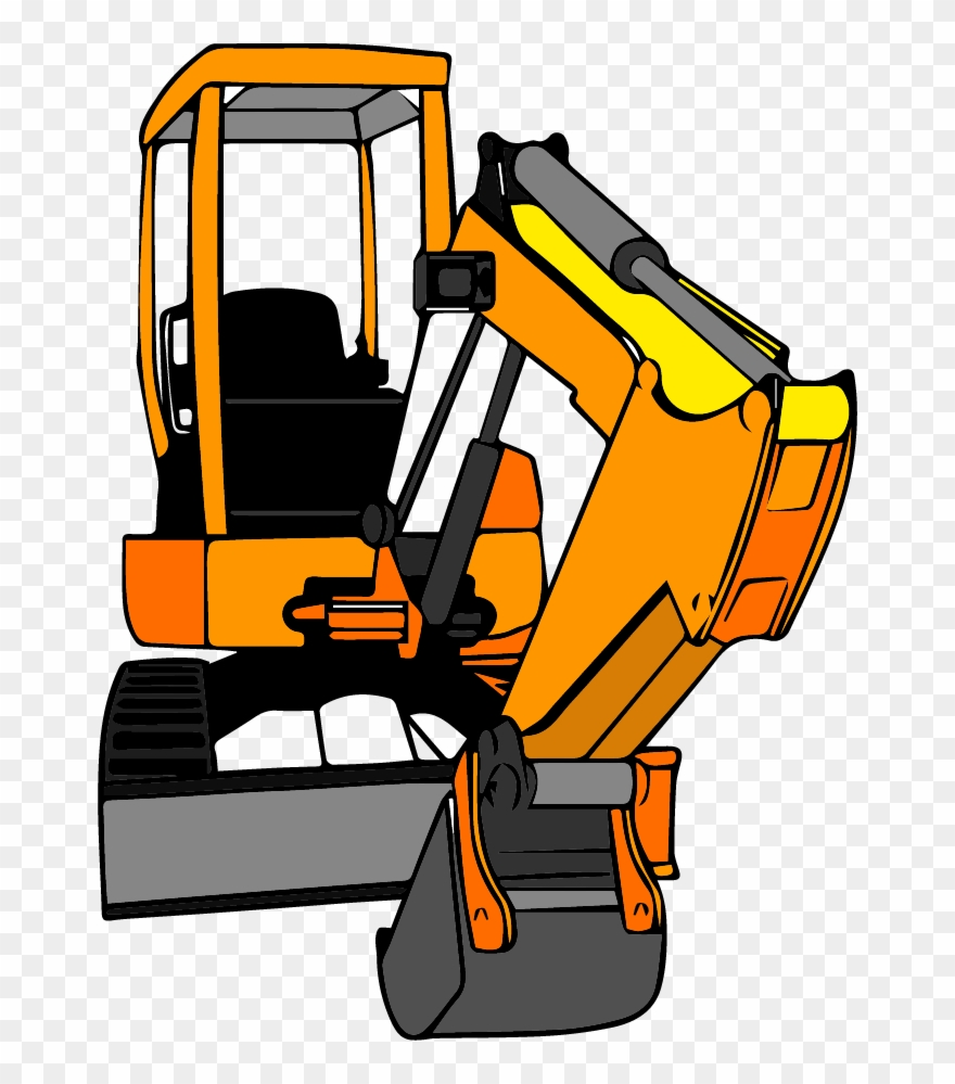 jpg royalty free Bulldozer clipart excavator bobcat. Graphic royalty free .