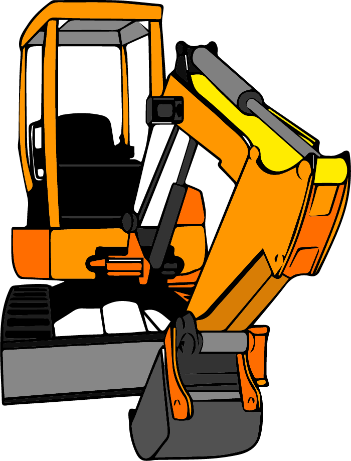 graphic royalty free Bulldozer clipart excavator bobcat. How it works digger.