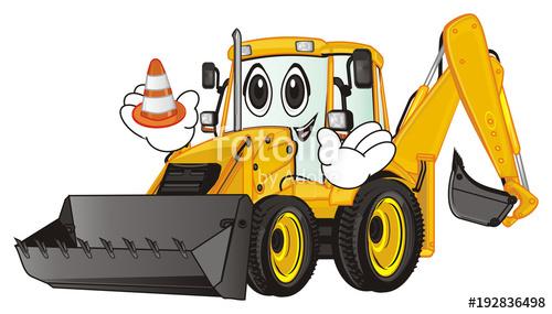 png transparent download Bulldozer clipart happy. Excavator construction tractor building