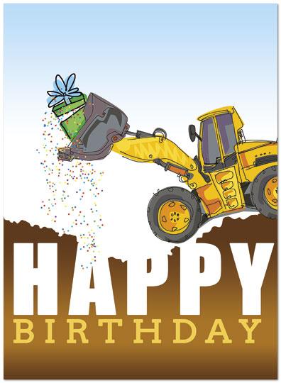 clipart library Bulldozer clipart happy. Dozer surprise birthday card