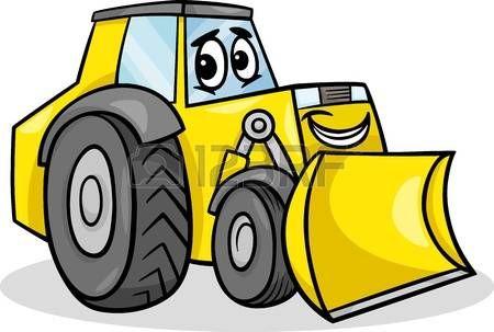 clip art royalty free stock Cartoon machinery images stock. Bulldozer clipart happy