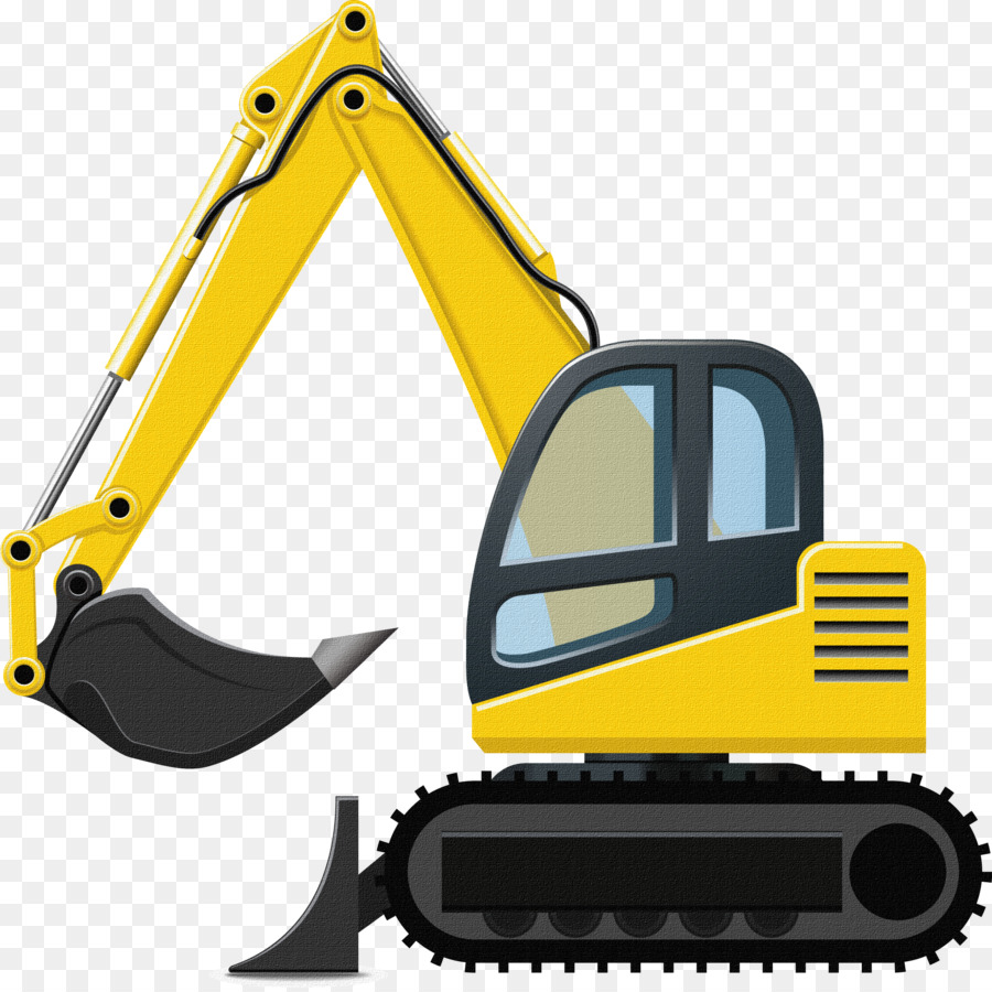 vector royalty free download Excavator heavy machinery loader. Bulldozer clipart machinary