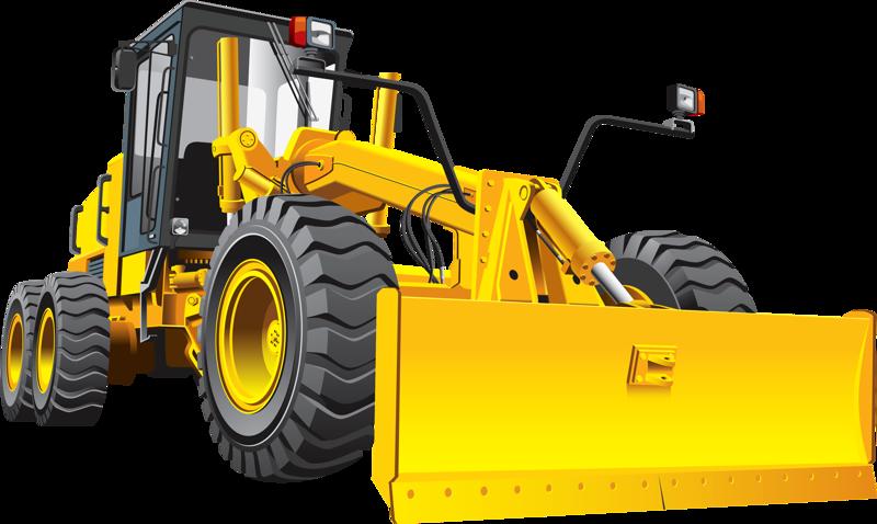 clip art royalty free Bulldozer clipart machinary. Grader road heavy equipment