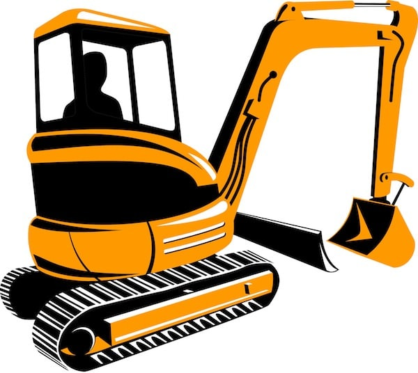 clip free library Backhoe services br s. Bulldozer clipart mini digger