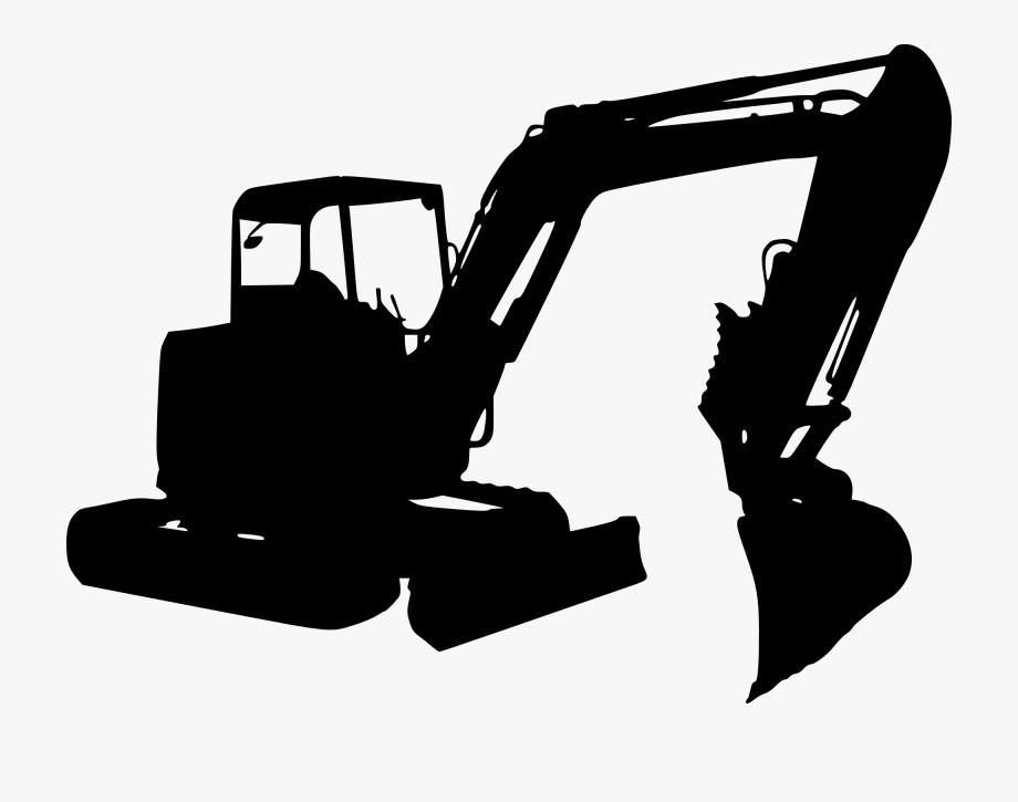 clip art library library Bulldozer clipart mini digger. Excavator transparent construction equipment