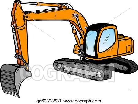 freeuse library Clip art vector excavator. Bulldozer clipart mini digger