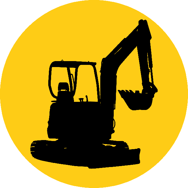 clipart royalty free download Micro hire manchester x. Bulldozer clipart mini digger