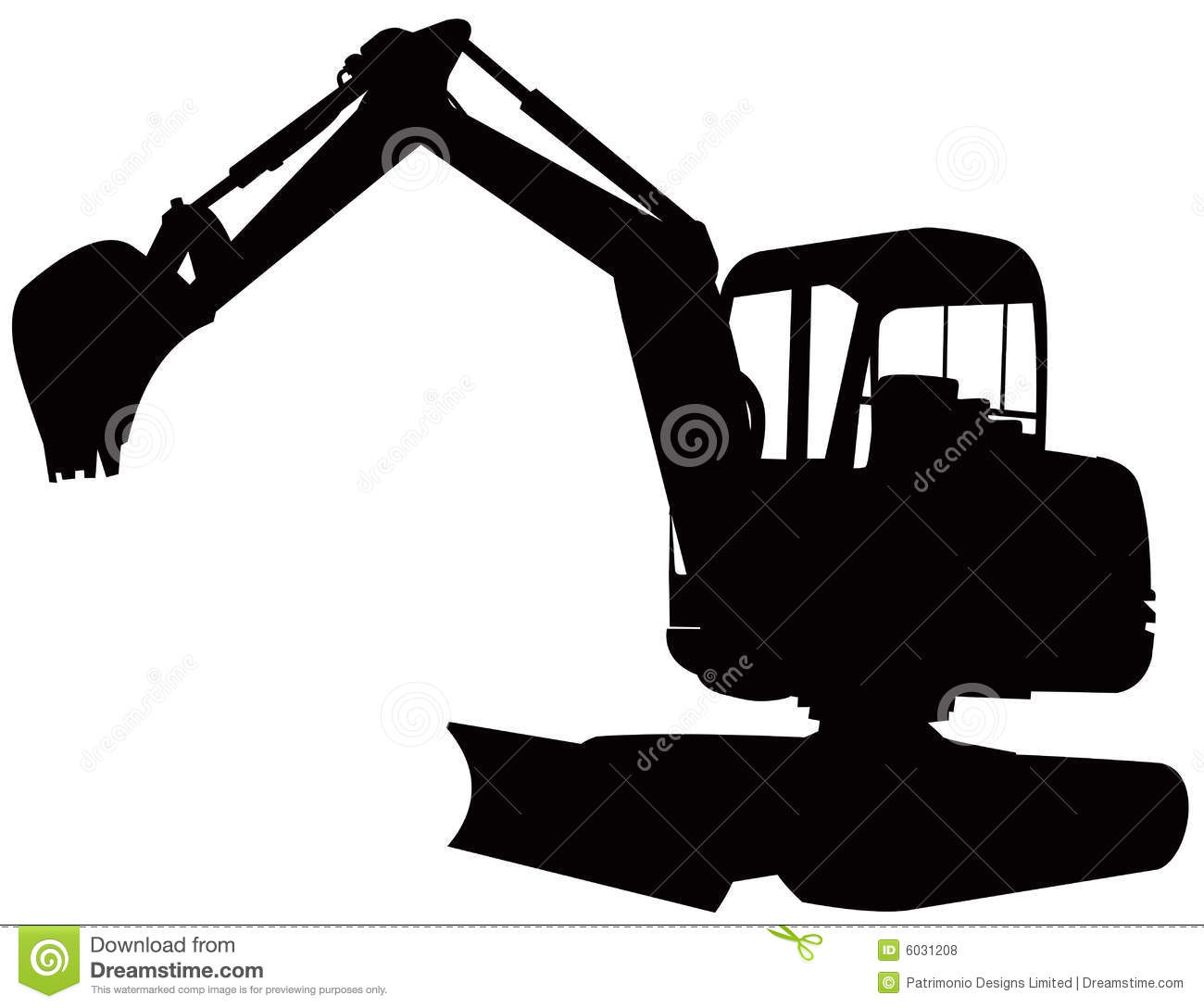 clip black and white download Excavator free download best. Bulldozer clipart mini digger