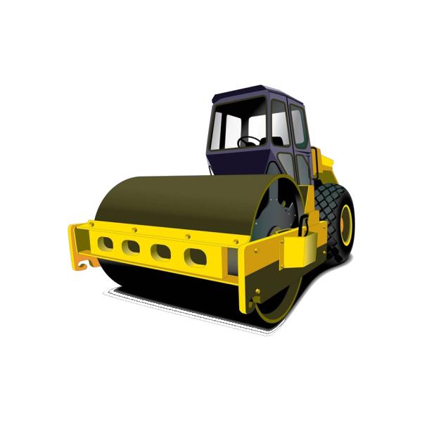 clip art royalty free download Paver asphalt concrete surface. Bulldozer clipart road roller.