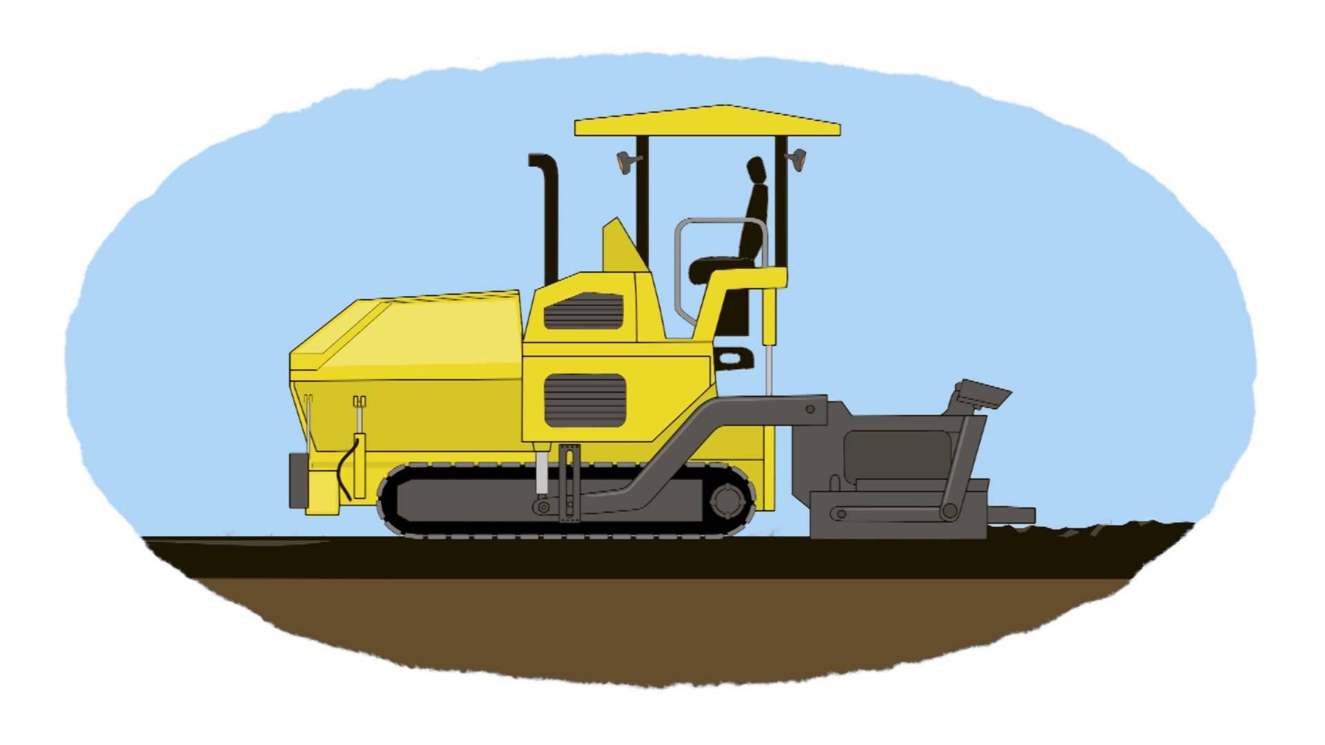 vector download . Bulldozer clipart road roller.